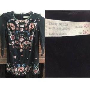 Zara Girls Soft Collection Floral Dress SZ 9 / 10